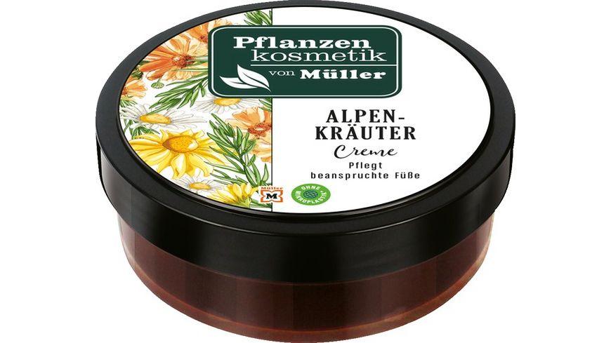 Pflanzenkosmetik von Mueller Alpenkraeuter Fusscreme