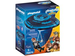 PLAYMOBIL 70070 PLAYMOBIL THE MOVIE Rex Dasher mit Fallschirm