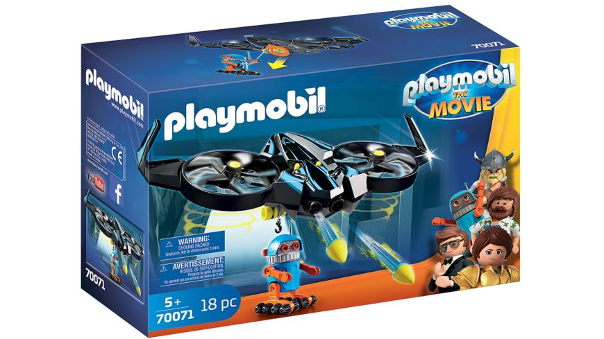 PLAYMOBIL 70071 PLAYMOBIL THE MOVIE Robotitron mit Drohne