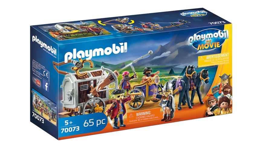 PLAYMOBIL 70073 PLAYMOBIL THE MOVIE Charlie mit Gefaengniswagen