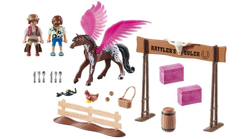 PLAYMOBIL 70074 PLAYMOBIL THE MOVIE Marla Del und Pferd mit Fluegeln