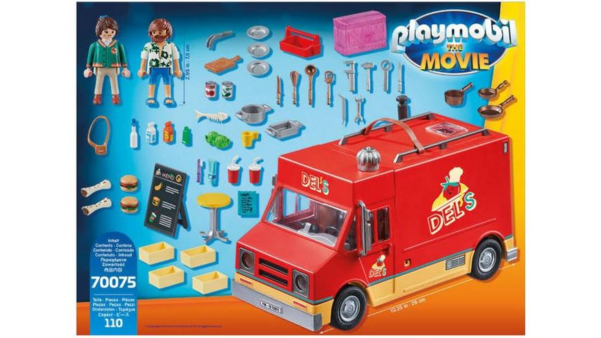PLAYMOBIL 70075 PLAYMOBIL THE MOVIE Del s Food Truck