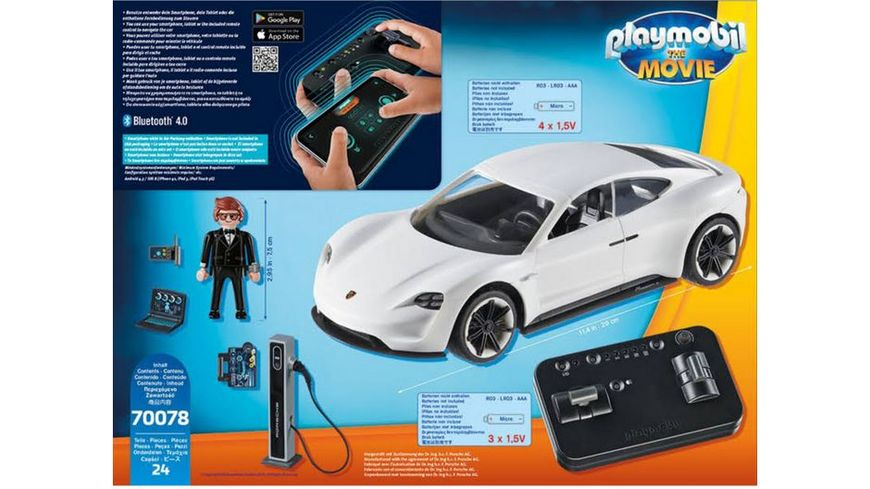 PLAYMOBIL 70078 PLAYMOBIL THE MOVIE Rex Dasher s Porsche Mission E
