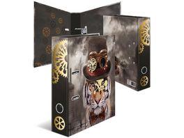 HERMA Motiv Ordner A4 breit Steampunk Tiger