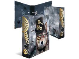 HERMA Motiv Ordner A4 breit Steampunk Wolf