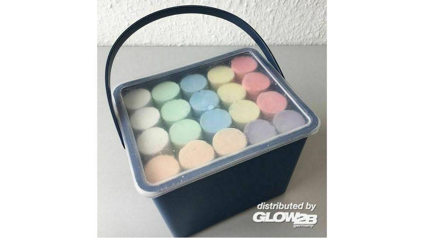 Glow2B Spielwaren Kreide im Eimer 20 teilig