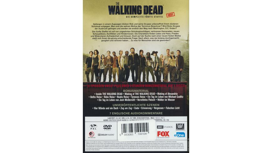 The Walking Dead Staffel 5 Uncut 5 DVDs
