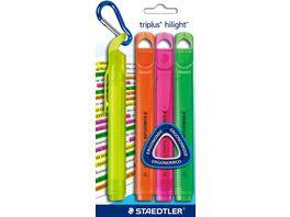 STAEDTLER triplus Highlighter 4er Pack