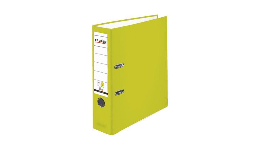 herlitz Ordner A4 8cm neon-grün