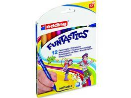 edding Fasermaler FUNTASTICS 12er Set