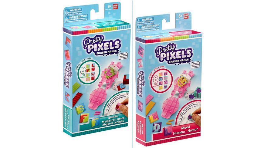 Bandai - Pretty Pixels Mini Set - coole Radiergummi DIY, 1 Stück, sortiert