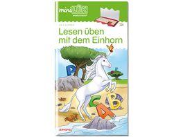 miniLUeK Vorschule Vorschule 1 Klasse Deutsch Lesen ueben mit dem Einhorn