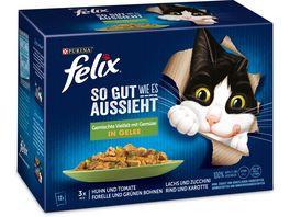 felix Katzennassfutter So gut wie es aussieht in Gelee Gemischte Vielfalt mit Gemuese 12x85g