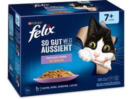 felix Katzennassfutter So gut wie es aussieht in Gelee Senior Gemischte Vielfalt 12x85g