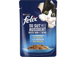 felix Katzennassfutter So gut wie es aussieht in Gelee mit Kabeljau