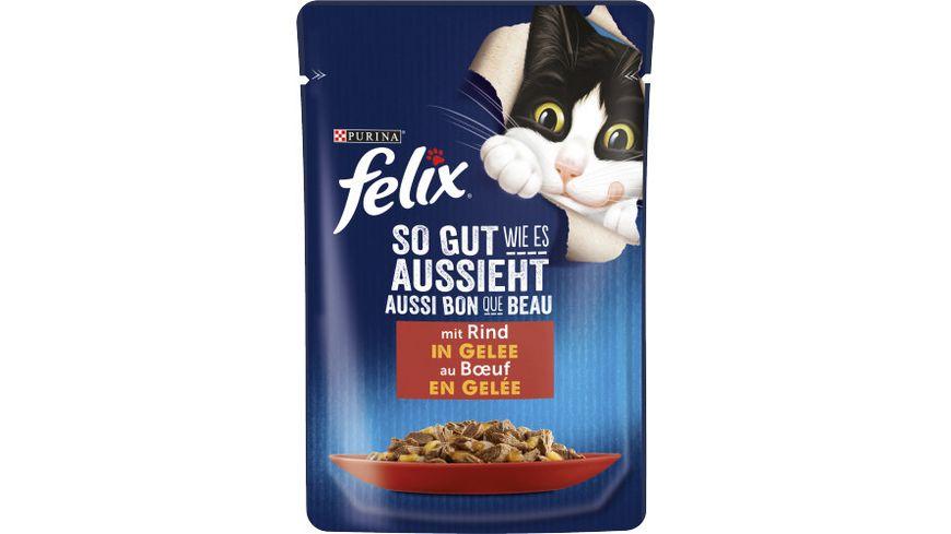 felix Katzennassfutter So gut wie es aussieht in Gelee mit Rind