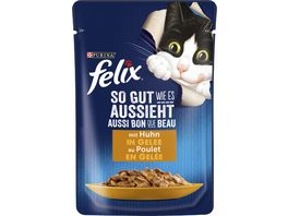 felix Katzennassfutter So gut wie es aussieht in Gelee mit Huhn
