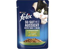 felix Katzennassfutter So gut wie es aussieht in Gelee mit Kaninchen