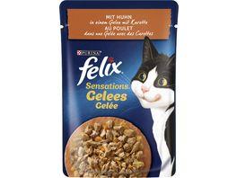 felix Katzennassfutter Sensations Gelees mit Huhn Karotte