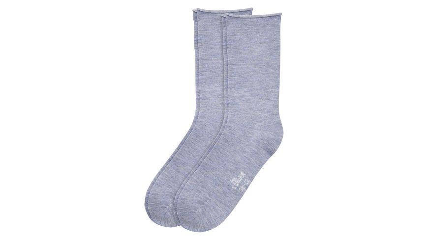 s Oliver Damen Socken Basic 2er Pack