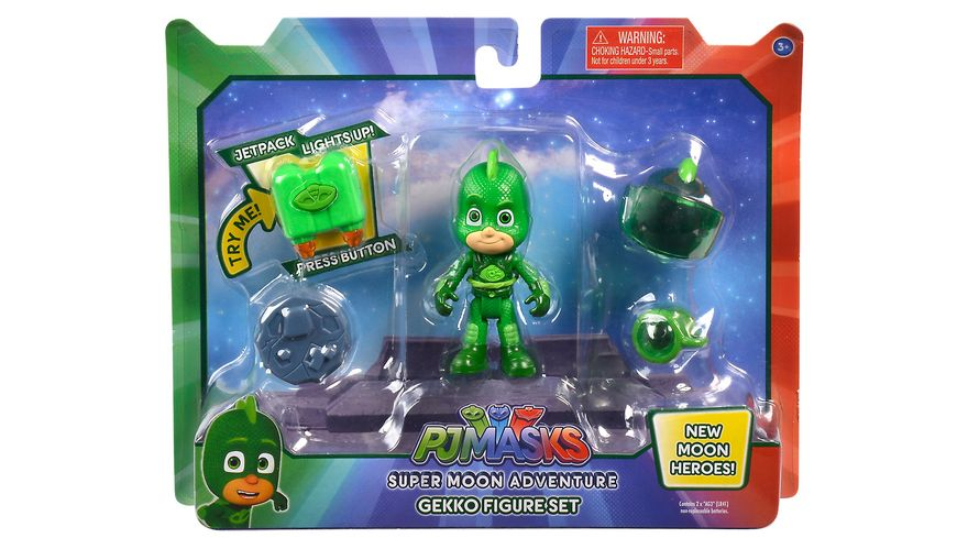 Simba PJ Masks Super Moon Adventure Gecko Figure Set