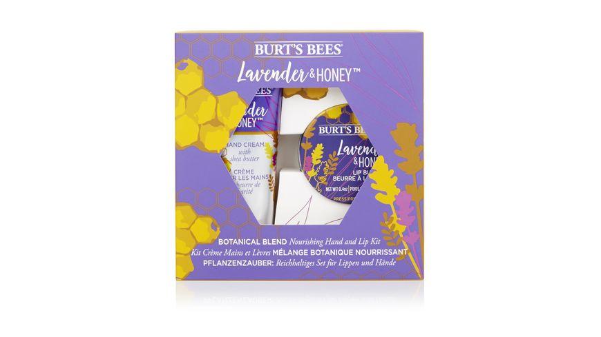 BURT S BEES pflegendes Handcreme und Lippenpflege Set Lavendel Honig