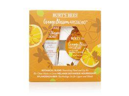 BURT S BEES pflegendes Handcreme und Lippenpflege Set Orangenbluete Pistazie