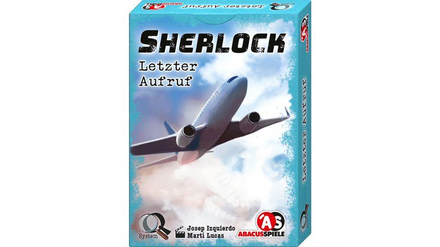 ABACUSSPIELE - Sherlock – Letzter Aufruf
