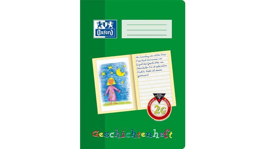 Oxford Schreiblernheft / Geschichtenheft A4 Lineatur 2G 16 Blatt