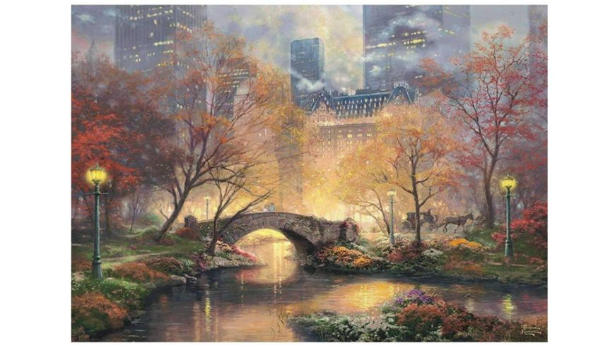 Schmidt Spiele Erwachsenenpuzzle Thomas Kinkade Central Park im Herbst 1000 Teile