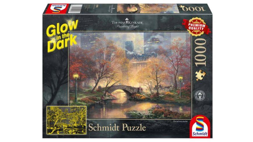 Schmidt Spiele - Erwachsenenpuzzle - Thomas Kinkade, Central Park im Herbst, 1000 Teile
