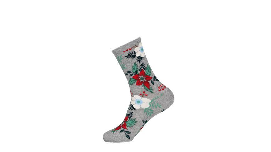 HOTSOX Damen Socken Weihnachtsstern