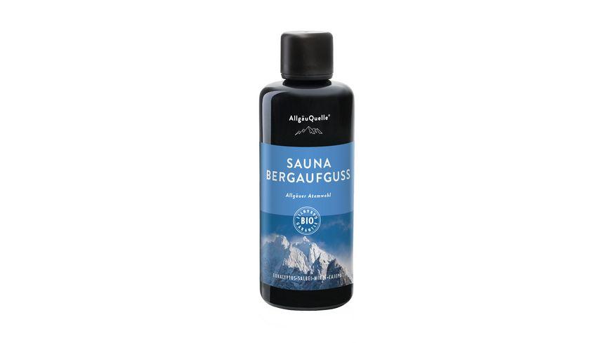 AllgaeuQuelle Sauna Bergaufguss Allgaeuer Atemwohl