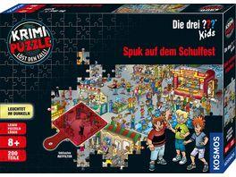 KOSMOS Krimi Puzzle Die drei Kids Spuk auf dem Schulfest