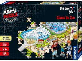 KOSMOS Krimi Puzzle Die drei Kids Chaos im Zoo