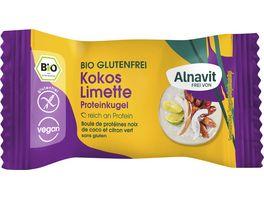 Alnavit Bio Protein Kugel Kokos Limette glutenfrei