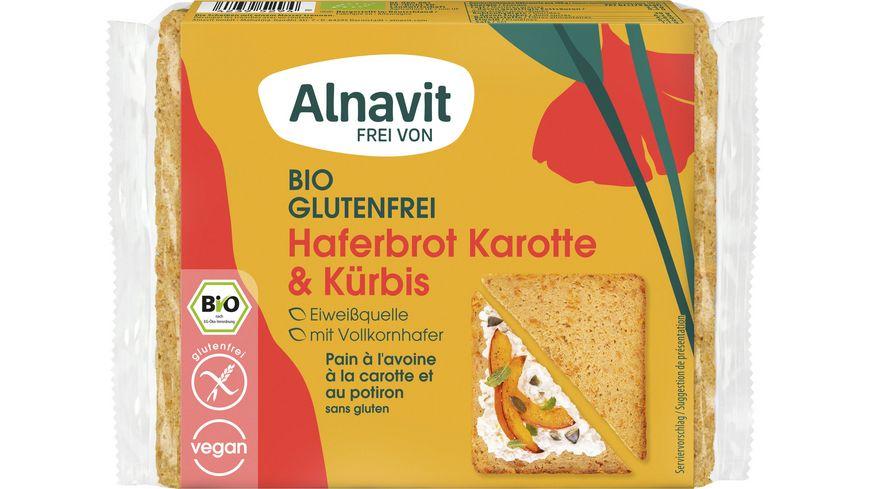 Alnavit Bio Haferbrot Karotte Kürbis - glutenfrei