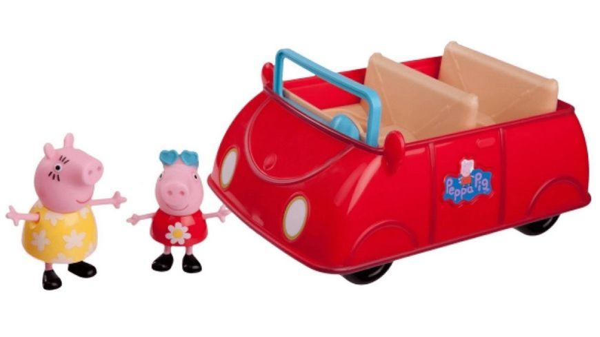 Jazwares Peppa Pig Grosses rotes Auto mit 2 Figuren