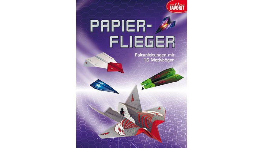 Papierflieger Faltanleitungen mit 16 Motivboegen
