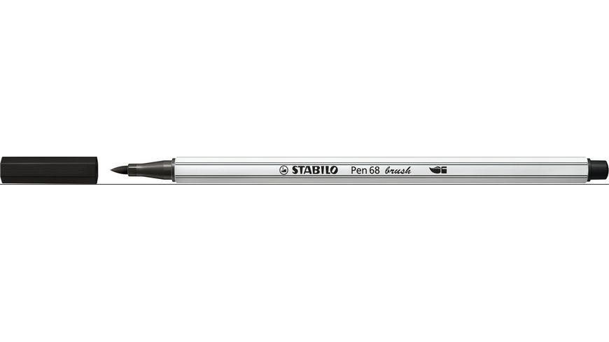 STABILO Premium Filzstift Pen 68 brush schwarz