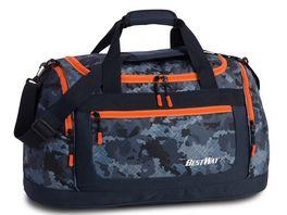 BESTWAY Sporttasche dunkelblau orange 40195 5014