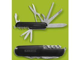 BLACK COFFEE Taschenmesser mit 11 Funktionen schwarz