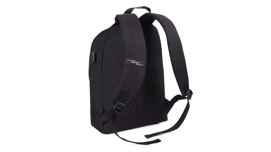 SWISSDIGITAL Rucksack grau schwarz