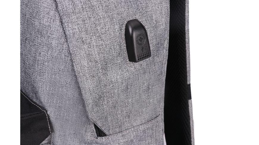 SWISSDIGITAL Rucksack BUDDY grau schwarz