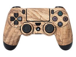 Skins Sticker fuer PS4 Controller Wood
