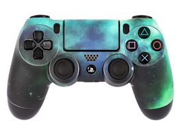 Skins Sticker fuer PS4 Controller Galaxy Green