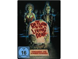 Return of the living Dead Verdammt die Zombies kommen Uncut Steelbook 2 BRs