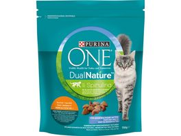 Purina ONE DUAL NATURE fuer ausgewachsene Katzen Huhn mit Spirulina Katzentrockenfutter
