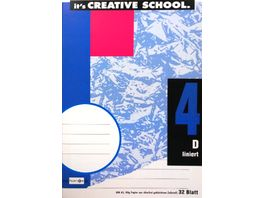 PAPERZONE Heft A5 Lineatur 4 32 Blatt