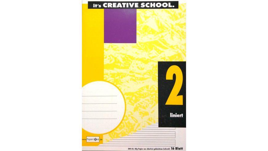PAPERZONE Heft A4 Lineatur 2 16 Blatt